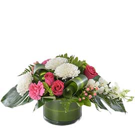Koko Wandin Florist Wedding Flowers Arrangements Disc Buds Roses Tropical Leaves Berries Roses Fern Seasonal Foliage Yarra Valley Lilydale Dandenong Ranges