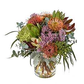 Yarra Valley Organic Wandin Florist Wedding Flowers Arrangement Lilydale Organic Native Mix Dandenong Ranges