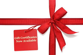 Gift Certificate (valid 12 months)