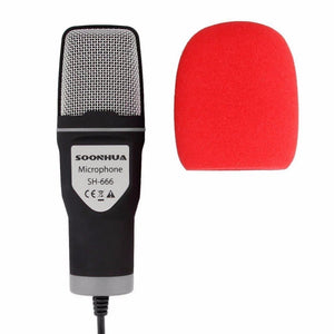 Professional Condenser Sound Podcast Studio Microphone For PC Laptop Skype MSN Microphone