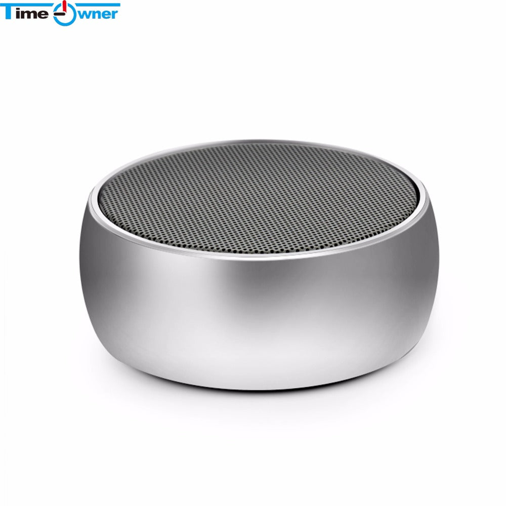Time Owner BS01 Mini Bluetooth Speaker Portable Bass Stereo Speaker With Microphone Micro SD/TF Card Slot Hands Free For iPhone