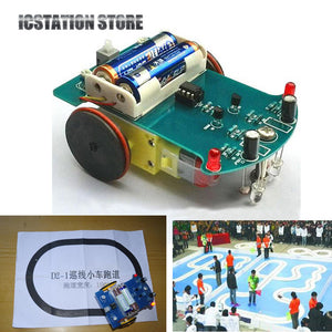 Tracking Robot Car Intelligent Patrol DIY Electronics Soldering Kit with Reduction Motor