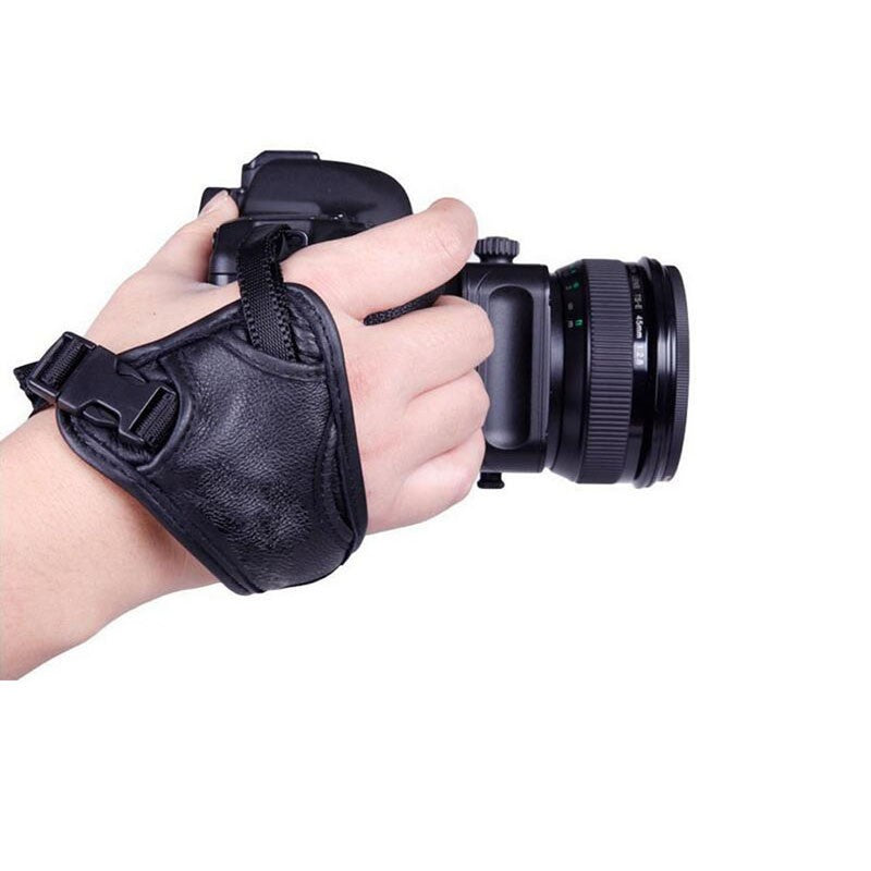 Triangle Wrist Strap for DSLR SLR Camera Comfortable and Convenient Leather Wrist Strip