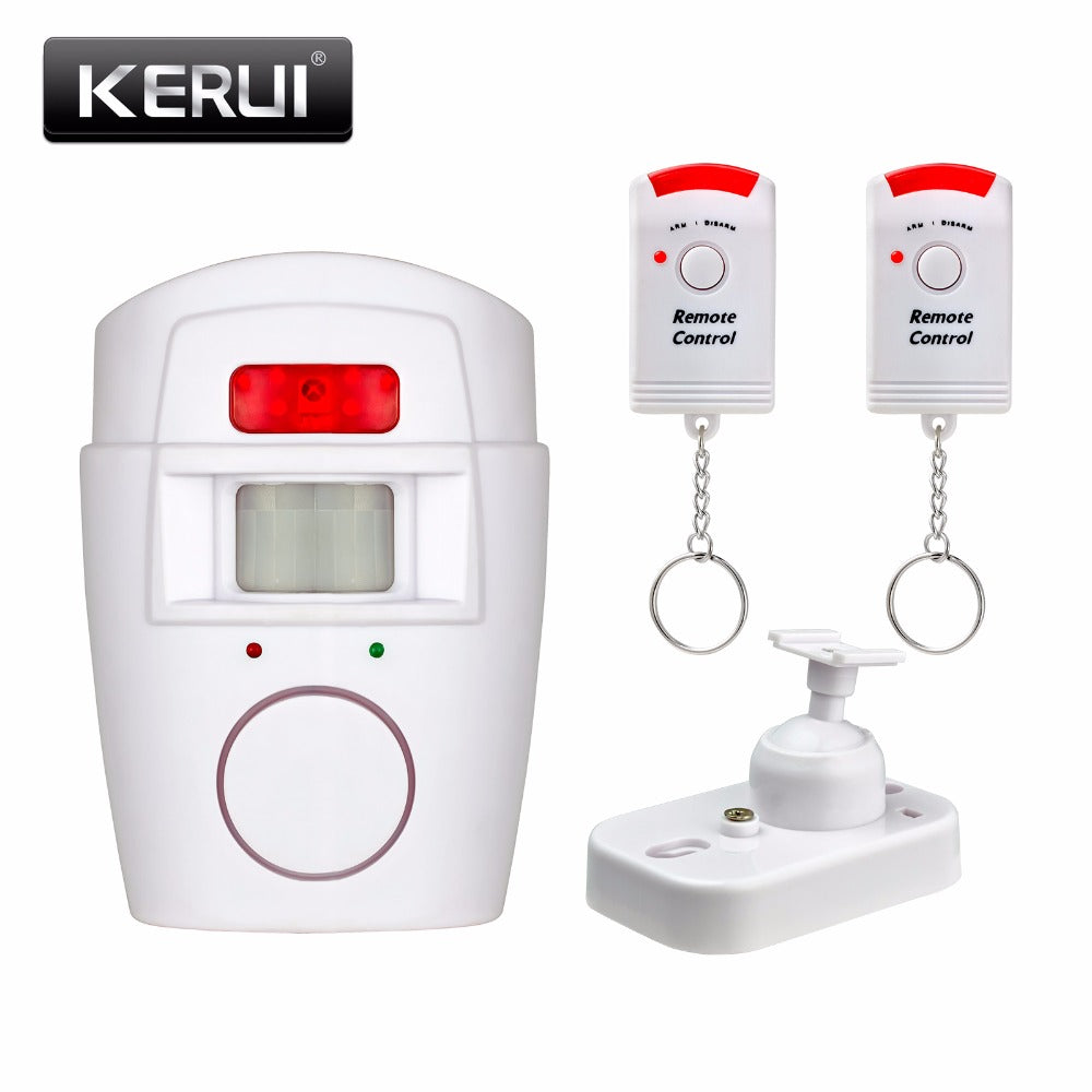 Home Security PIR MP Alert Infrared Sensor Anti-theft Motion Detector Alarm Monitor Wireless Alarm system+2 remote