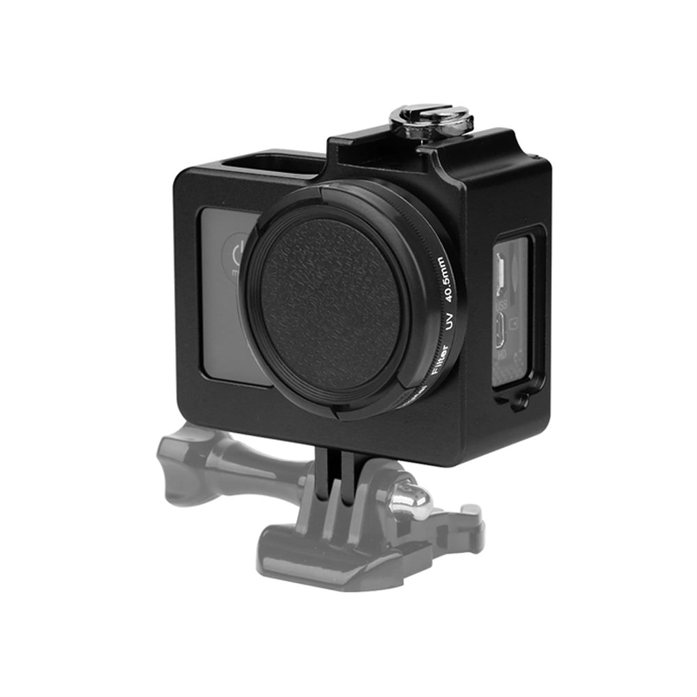 Aluminum Alloy SJ4000 Protective Housing Case Metal Frame Lens Cover UV Filter