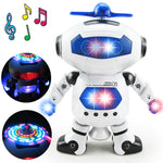 BOHS Space Dancer Humanoid Robot Toy With Light Children Pet Brinquedos Electronics Jouets Electronique for Boy Kid