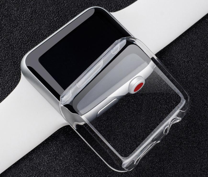 Smart Accessories Ultra-Slim Transparent PC Hard Case Cover For Apple Watch