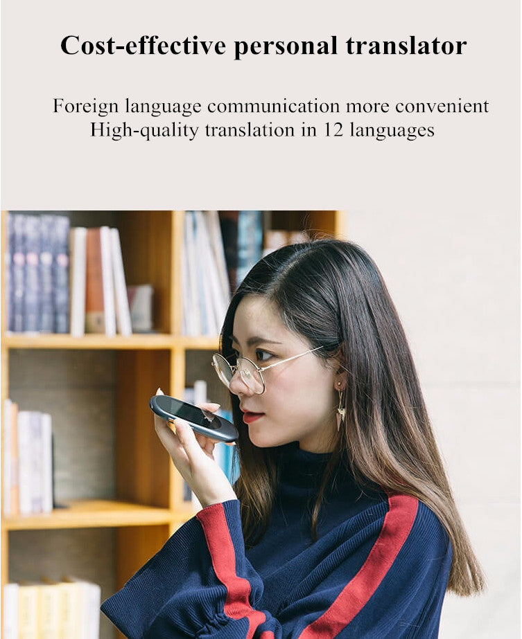 "New arrival original Voice Translator 2.0"" screen Professional 12 language Translation  intelligent voice WIFI hotspot  connec"