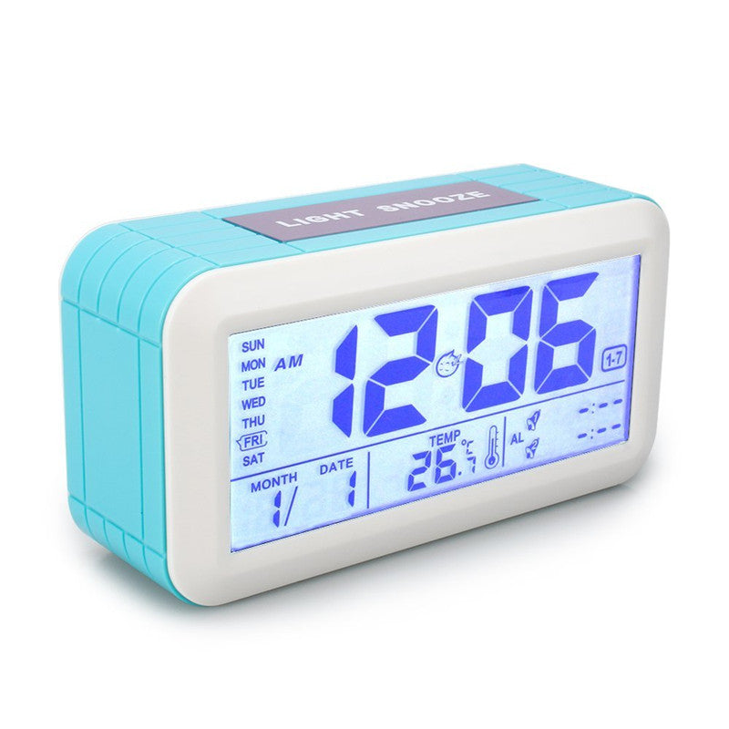 Digital Smat Home LCD Display Multi-functional Electronic Alarm Bell With Time Date Week Temperature