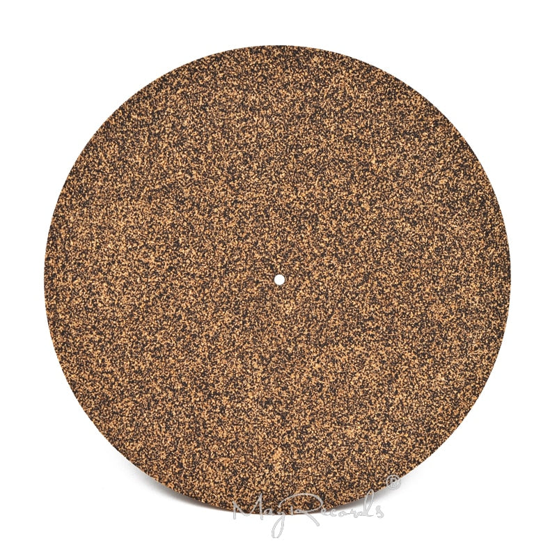 Cork & Rubber Turntable Platter Mat Slipmat Anti-Static For LP Vinyl