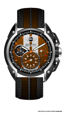 Mini Cooper Iced Chocolate Dial Gents Watch