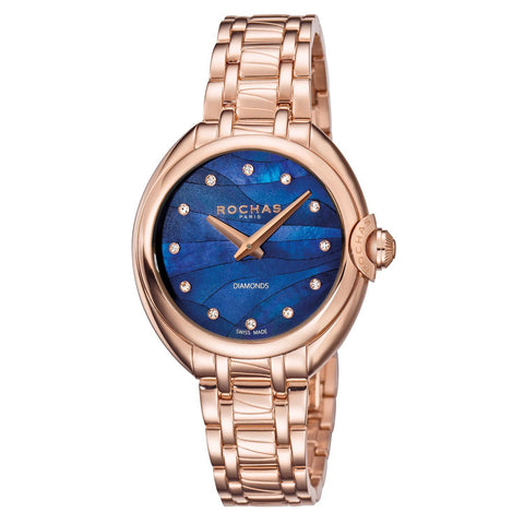 Rochas Paris Blue MOP Dial Ladies Watch