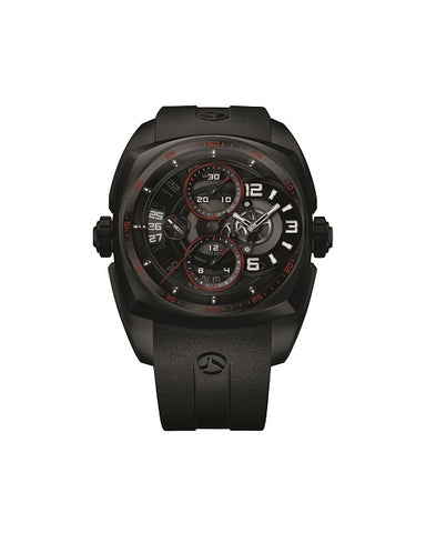 Cyrus Klepcys Chrono Skeleton Full DLC & Red Unisex Watch