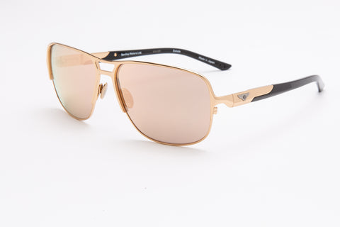 Bentley Gents Aviator Sunglasses (Gold Mirror)
