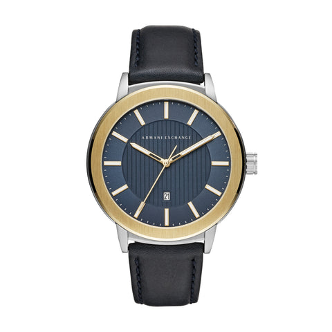 Armani Exchange Gents Blue Sunray Dial Watch