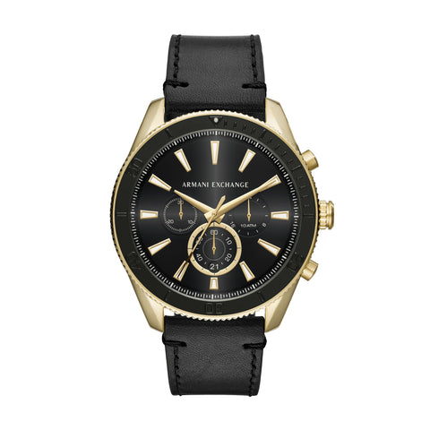 Armani Exchange Gents Black Dial Watch