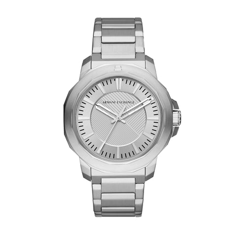 Armani Exchange Gents Silver Dial Watch