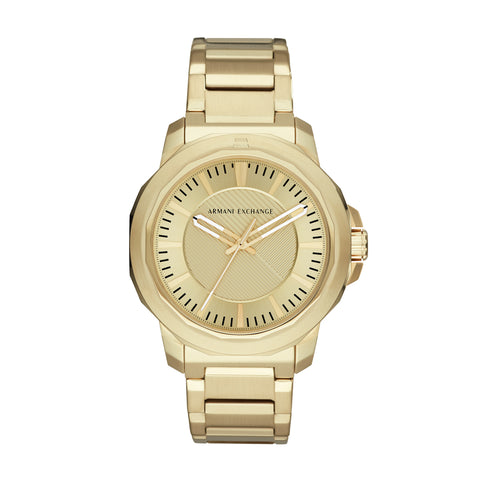 Armani Exchange Gents Gold Dial Watch