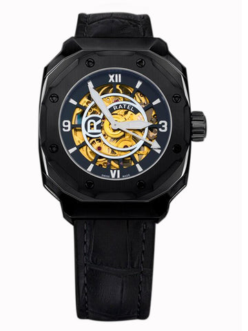 Ratel Gents BLACK SKELETON Watch