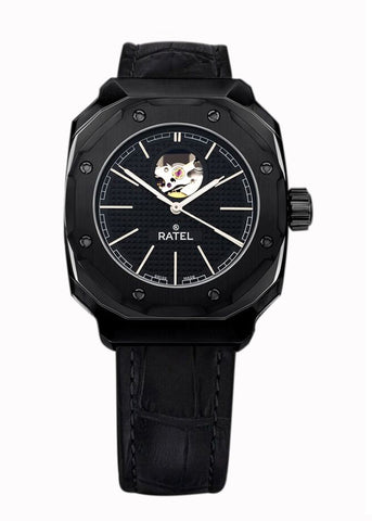 Ratel Gents BLACK OPEN-HEART Watch