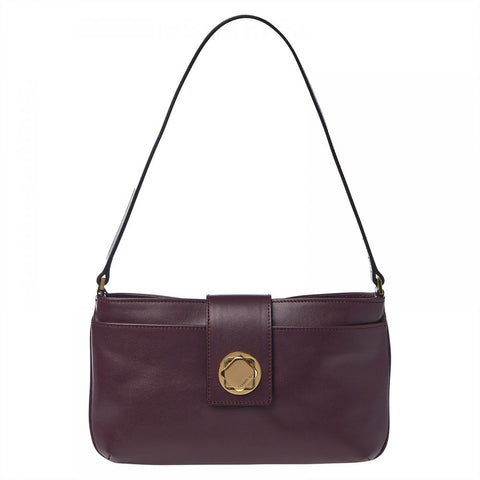 Cerruti 1881 Purple Leather Cerrutis Baguette Bag