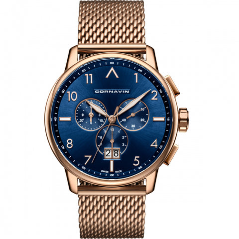 Cornavin Gents Blue Dial Watch