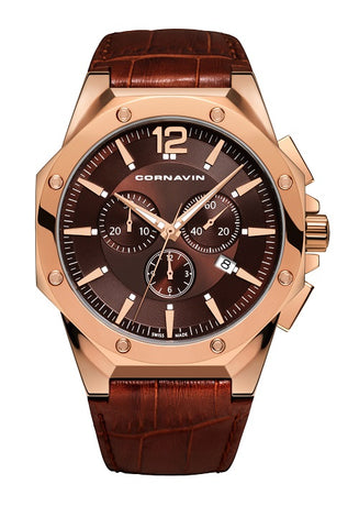 Cornavin Gents Brown Dial Watch
