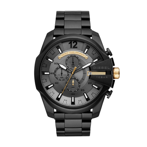 Diesel IP Black Steel Case Gents Watch
