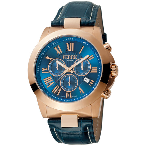 Ferre Milano Dark Blue Dial Gents Watch