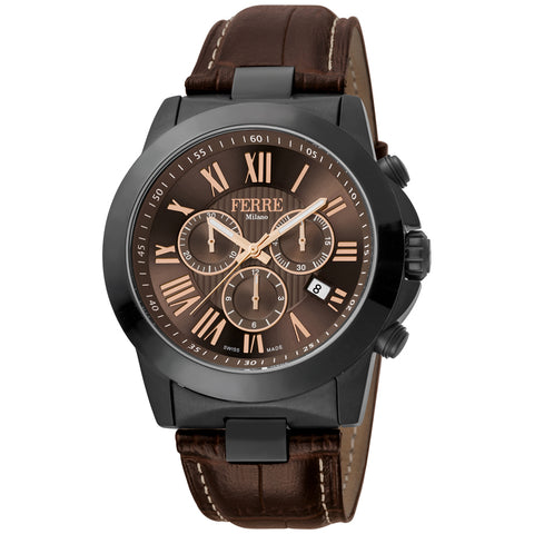 FERRE MILANO CLASSICO CHOCOLATE DIAL WATCH