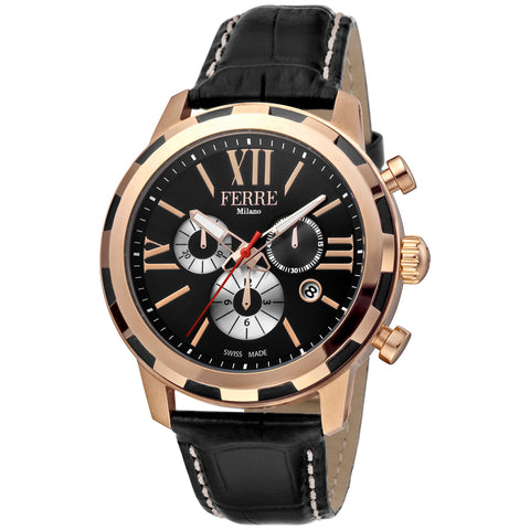 Ferre Milano Black Dial Gents Watch