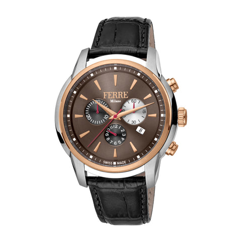 FERRE MILANO Gents Chocolate Dial STRAP Watch