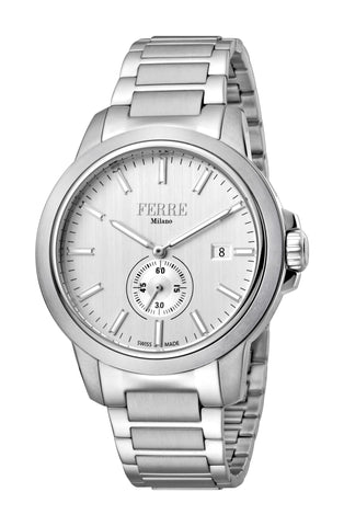 Ferre Milano Silver Dial Gents Watch