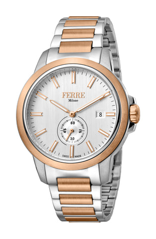 FERRE MILANO WATCH DAVIDE GENTS SS  SILVER DIAL