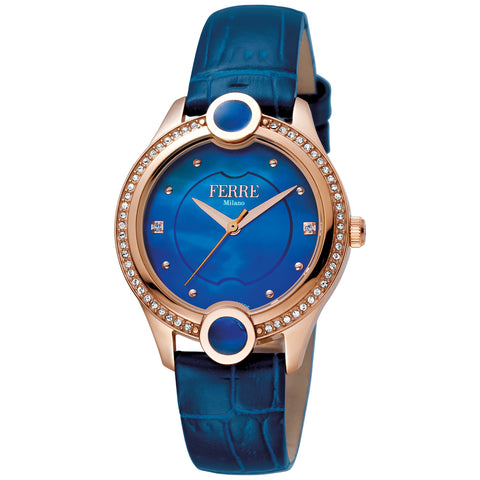Ferre Milano Dark Blue MOP Dial Ladies Watch