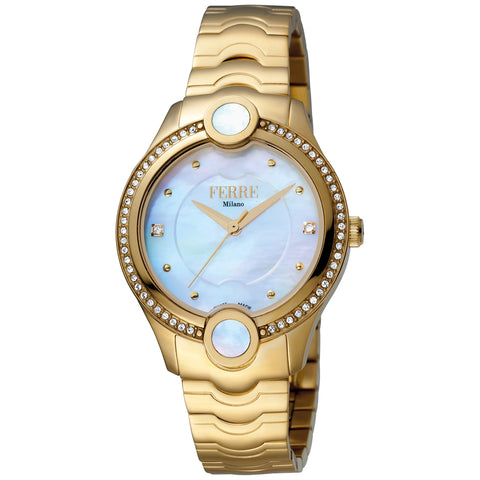 Ferre Milano White MOP Dial Ladies Watch