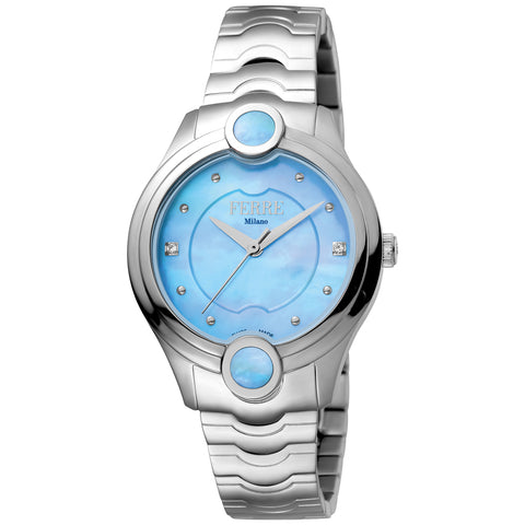Ferre Milano Light Blue MOP Dial Ladies Watch