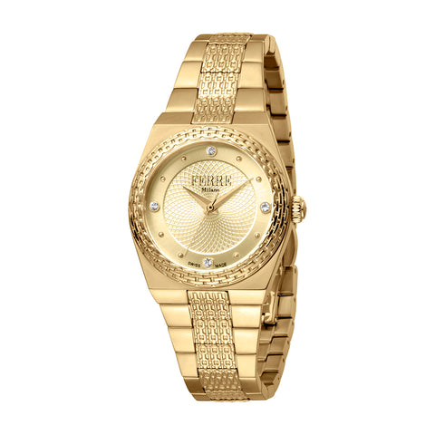 FERRE MILANO LADIES CHAMPAGNE DIAL GP WATCH