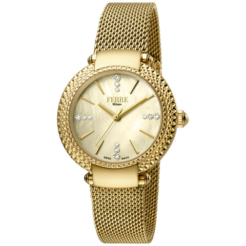 Ferre Milano Champagne Dial Ladies Watch