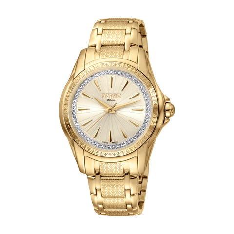 FERRE MILANO Ladies Champagne Dial BRACELET Watch