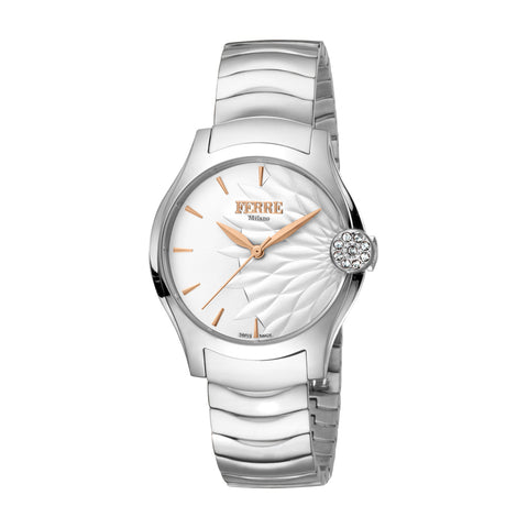 FERRE MILANO Ladies Silver Dial BRACELET Watch