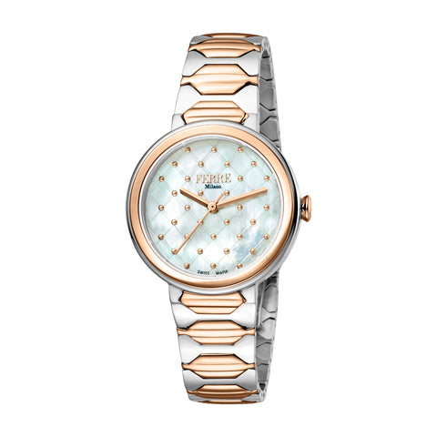 FERRE MILANO Ladies White MOP Dial BRACELET Watch