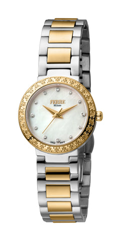 Ferre Milano Ladies White MOP Dial Watch