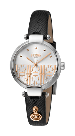 Ferre Milano Ladies Silver Dial Watch