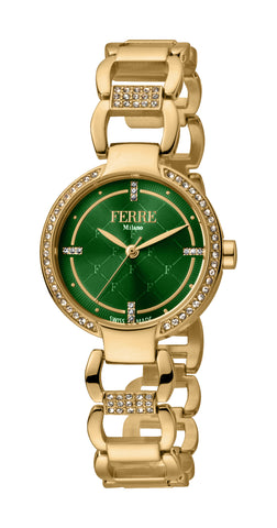 FERRE MILANO WATCH ELBA LADIES GP D. GREEN DIAL