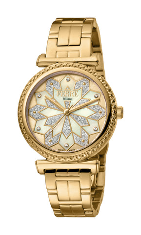 Ferre Milano Ladies Champagne Dial Watch
