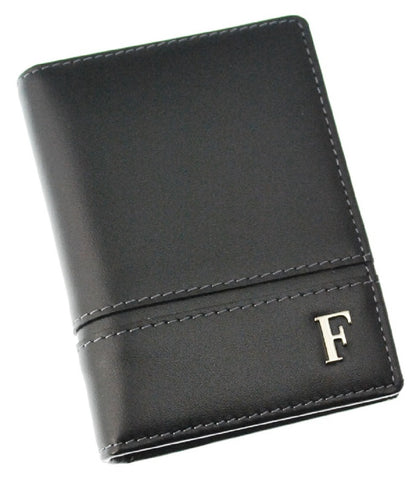 Ferre Milano Card holder Nappa Black + Dark grey