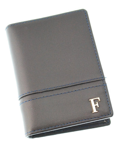 Ferre Milano Card holder Nappa Brown + Navy