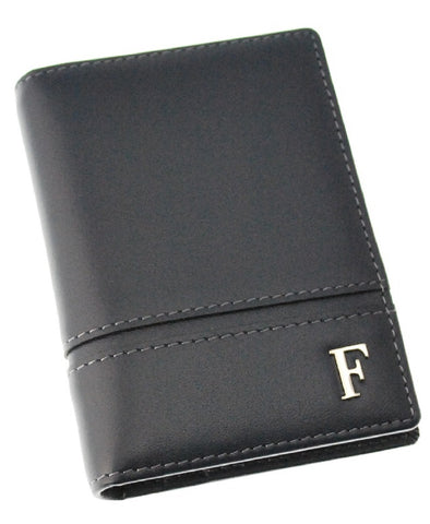 Ferre Milano Card holder Nappa Navy + Dark grey