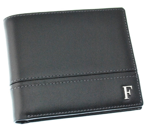 Ferre Milano Wallet Nappa   Black + Dark grey